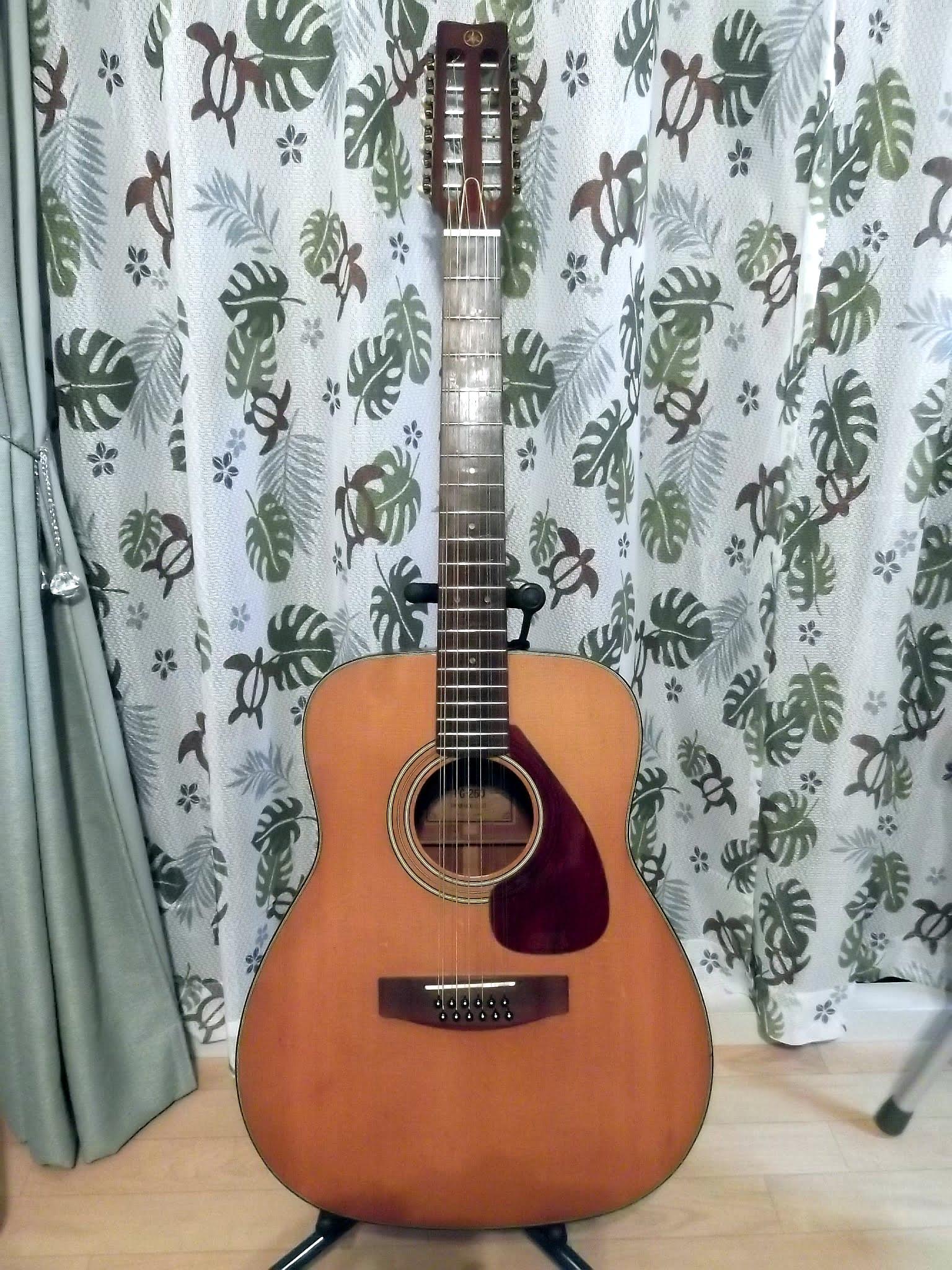 """""""未完""""50年(半世紀)前の12弦ギター""""YAMAHA製ビンテージ""""FG-260(グリーンラベル)のモディファイ(リペア)の過去履歴"""