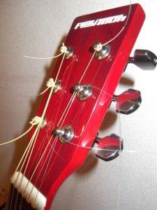 """安物のギター(初心者用?)-アコ-スティック・ギター-""""エレアコ""""を愛し続けて!!サウンドハウス(SoundHouse)社-自社ブランド製-""""PLAYTECH D-7E""""- (Red-Collar)改造10年の記録!"""