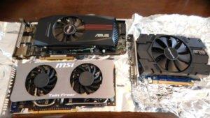 """古いPCグラフィックカードの突然死!!-SAPPHIRE製(AMD Radeon HD 7770)からASUS製(ATI Radeon HD 5850)への移植手術(換装)-度重なる""""VGA""""ドライバーエラー!-認識不能!-解決法!-備忘録!"""